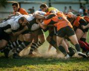 une mélée de rugby